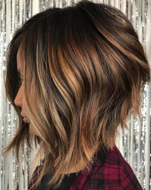 Inverted Bob With Razored Ends