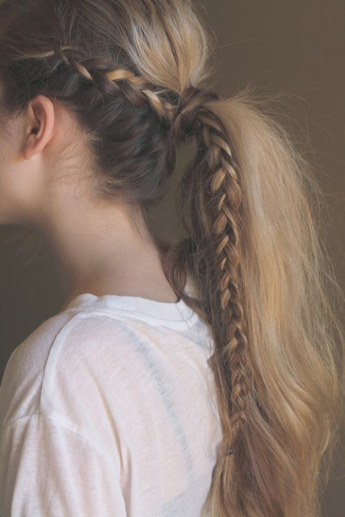 Enjoyable Braided Ponytail Hairstyles 40 Cute Ponytails With Braids Hairstyle Inspiration Daily Dogsangcom