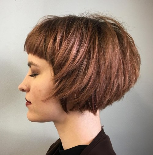 Short Layered Rosewood Bob
