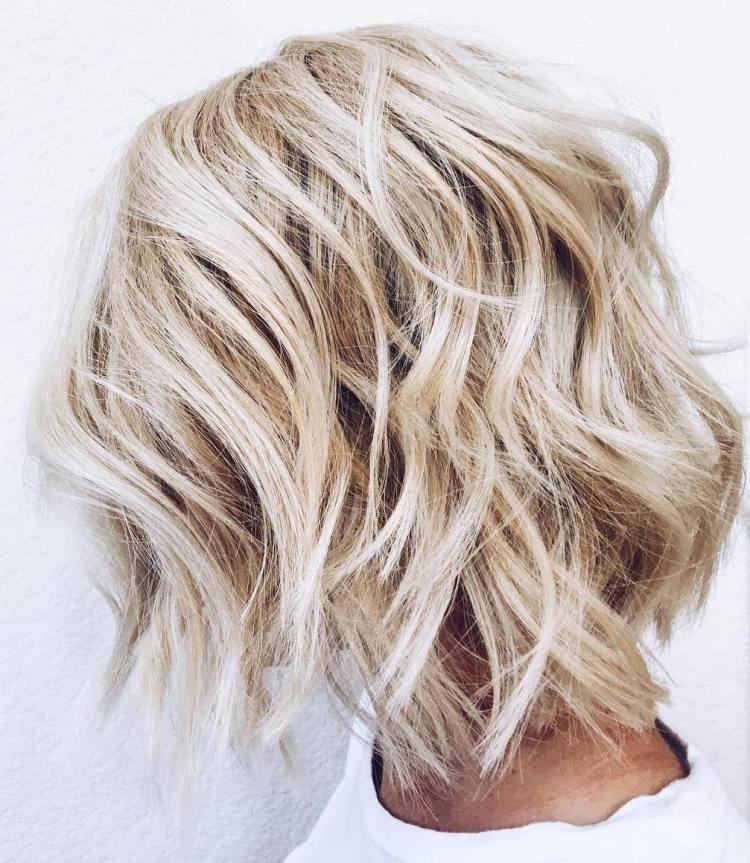 Beachy Choppy Blonde Bob Cut