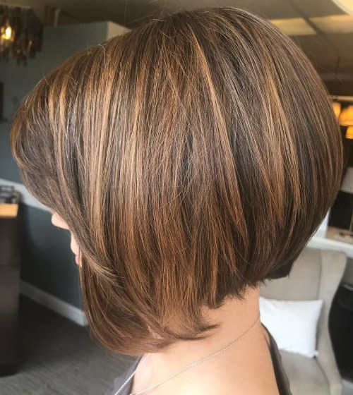 Caramel Brown Bob with Elongated Front Pieces