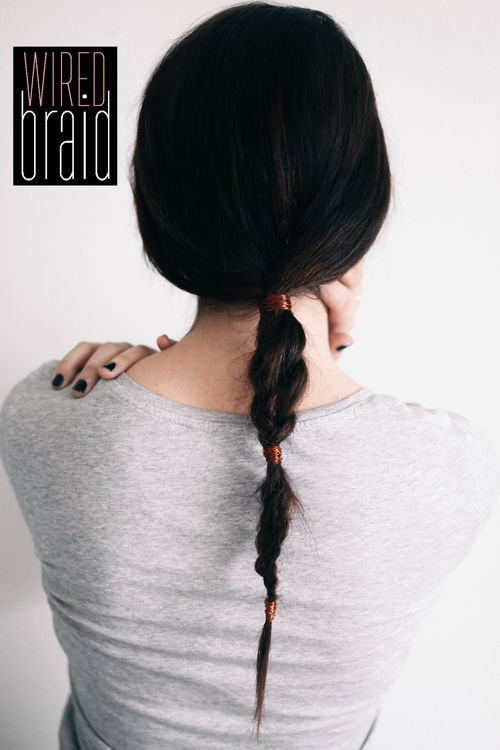 cute low braided pony hairstyle