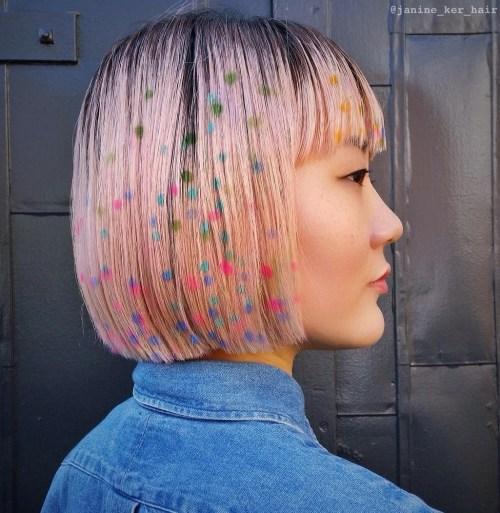 Polka Dots Hair Tattoo