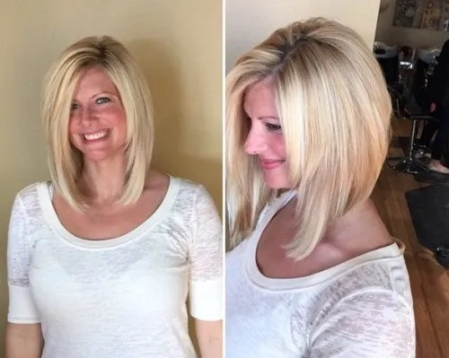 long layered inverted bob