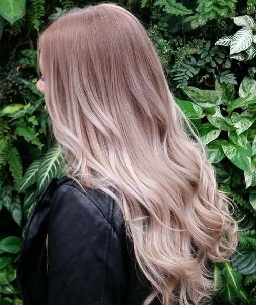 light brown into ashy blonde ombre