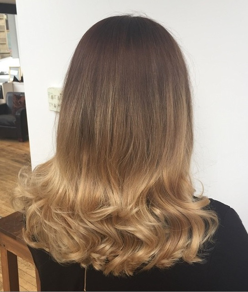 dark blonde ombre for brown hair