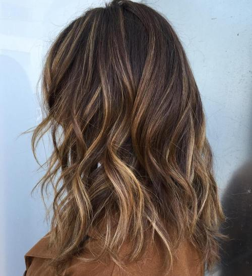 Brown And Blonde Highlighted Hair 113