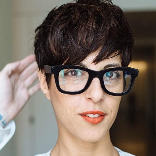 Brunette Pixie Cut