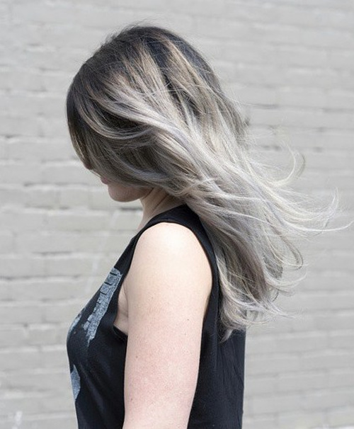 silver blonde ombre hair