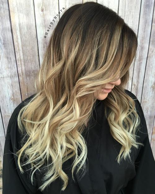 Sandy Blonde Ombre Balayage Hair