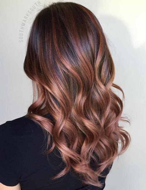 70 flattering balayage hair color ideas balayage highlights inspiration - Tie and dye caramel ...