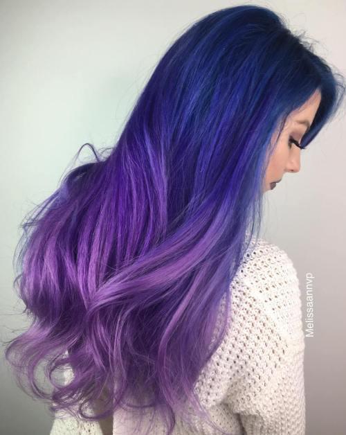Dark Hair Ombre Purple