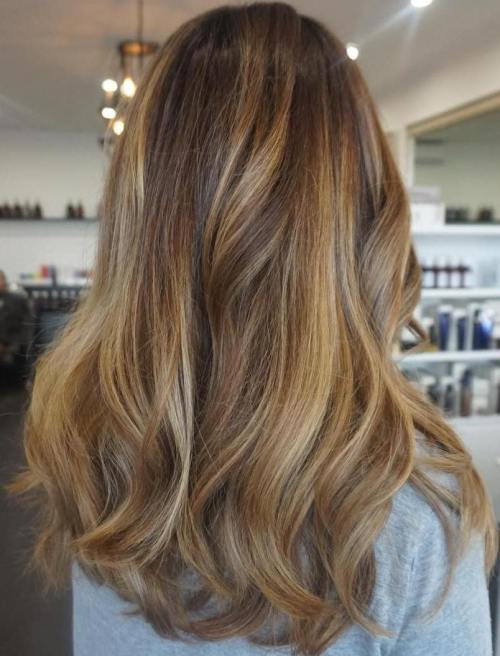 90 balayage hair color ideas with blonde brown and caramel highlights chunky honey blonde balayage highlights pmusecretfo Image collections