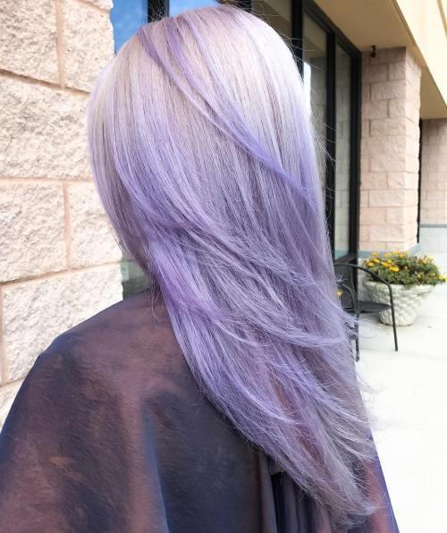 Platinum To Lavender Ombre