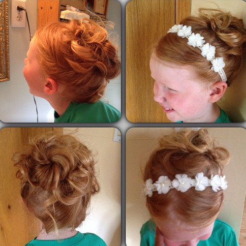 curly updo for girls