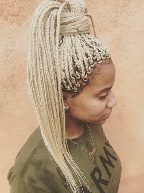 Platinum Blonde Box Braids