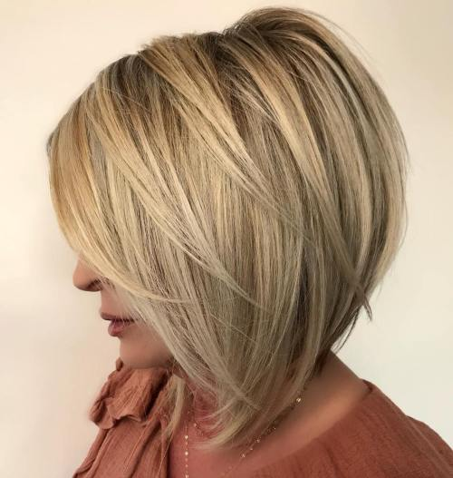Warm And Cool Blonde Balayage Bob