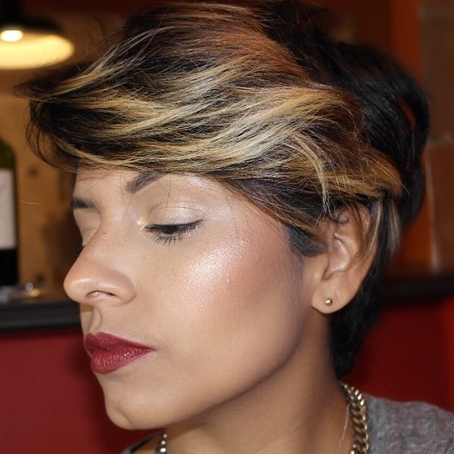 Long Pixie Hairstyle With Bangs
