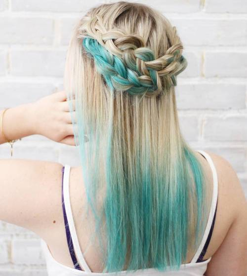Teal Dip Dye For Blonde Hair
