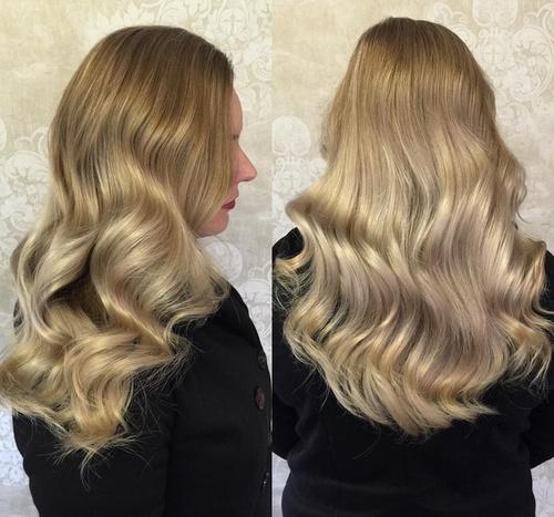 cute blonde sombre