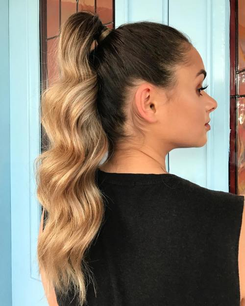 Ponytail For Long Ombre Hair