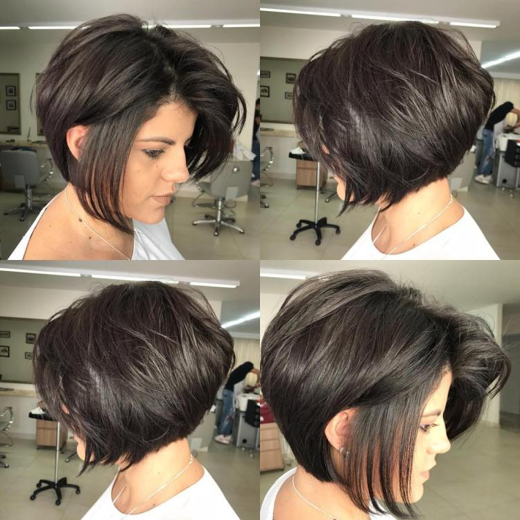 Voluminous Layered Chin-Length Bob