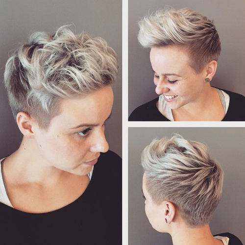 short ash blonde ombre hair