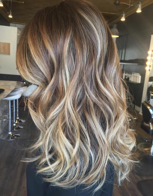 Medium Brown Hair With Blonde Balayage
