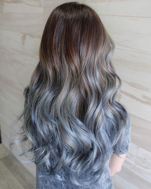 40 fairy like blue ombre hairstyles brown to pastel blue ombre urmus Choice Image