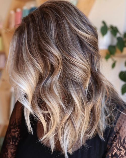 Light Chocolate Hair With Balayage Highlights