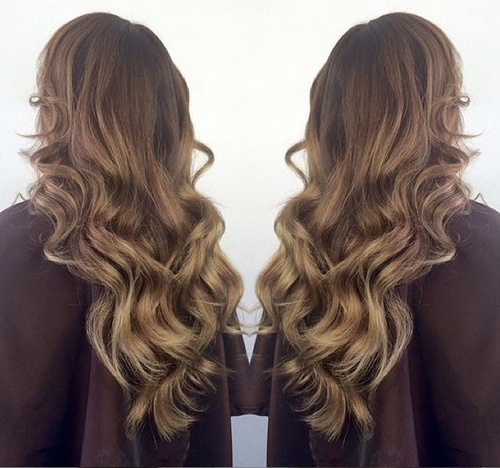 brown into golden blonde ombre