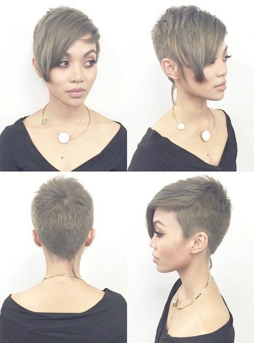 extra short pixie with bangs