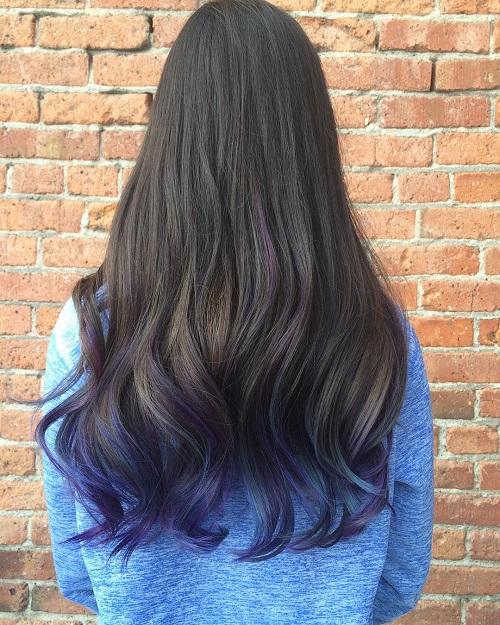Photo collection dark brown hair blue 15 dark hair colour ideas blue highlights colored hair and dark dark brown pmusecretfo Gallery