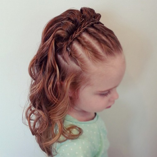 cute braided little girls hairstyle
