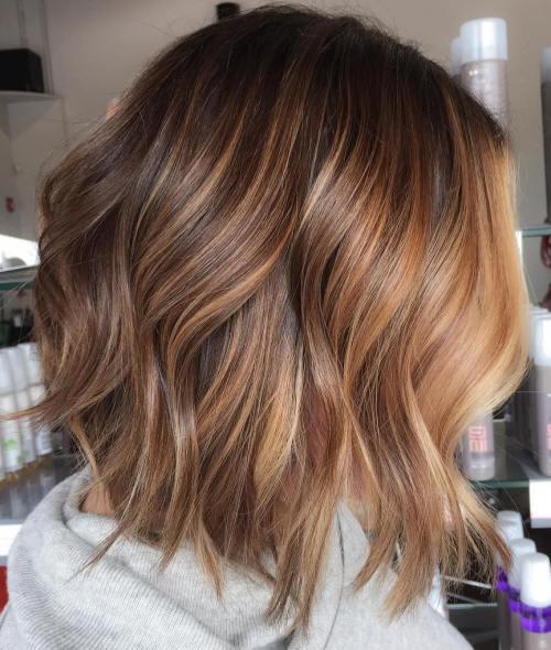 90 balayage hair color ideas with blonde brown and - Balayage bob braun ...