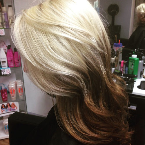 blonde to brown reverse ombre