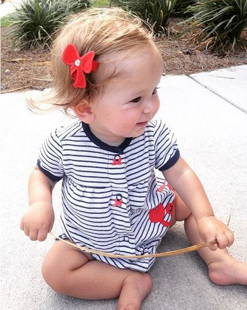 hair style for toddler girl 20 sweet baby hairstyles 5631 | 8 short side parted hairstyle with bow pin