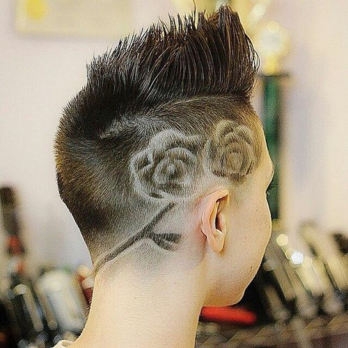women's fauxhawk with side shaved design