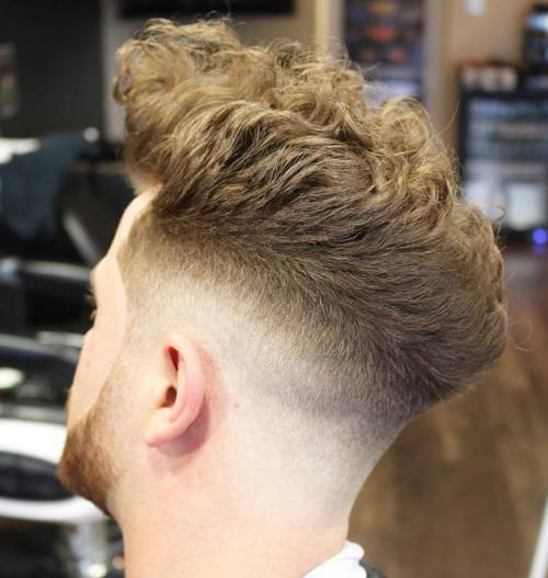 long top taper fade for thick curly hair