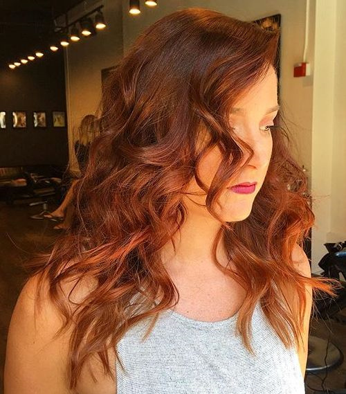 beautiful copper hair color