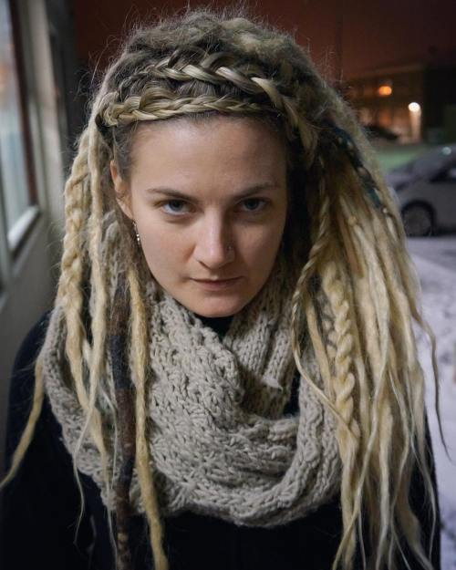 Blonde Dreadlocks With Braids And Twists