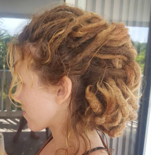 Mohawk Updo For Dreadlocks