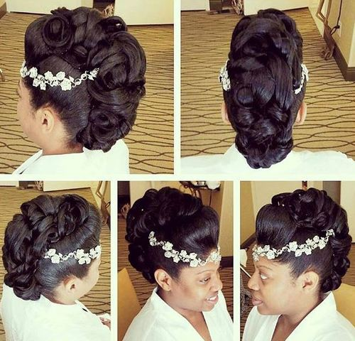 bridal fauxhawk hairstyle
