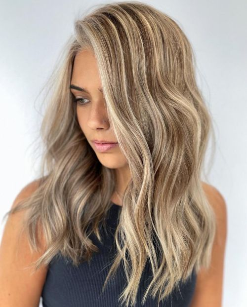 Dirty Blonde Hair with Platinum Highlights