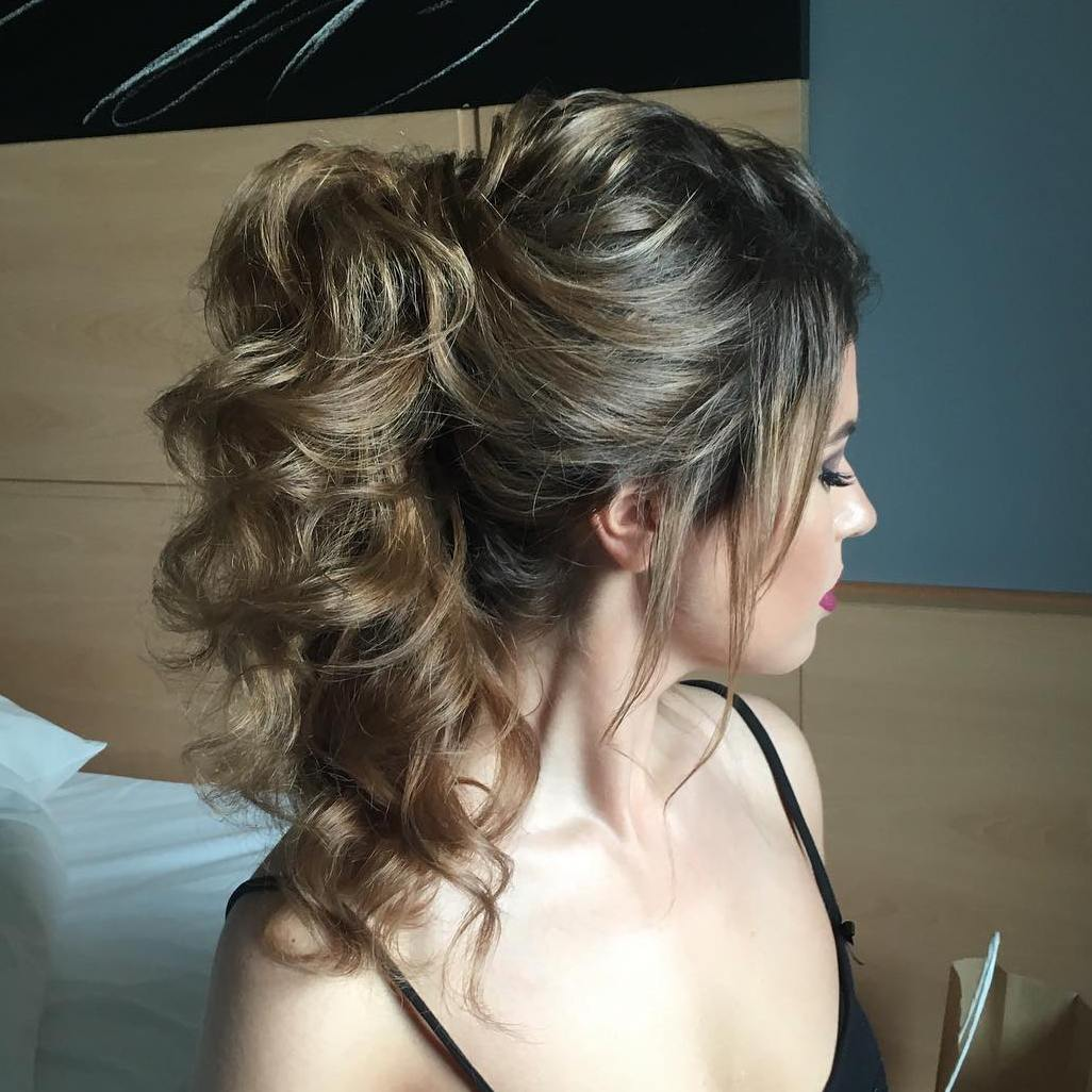 Curly Ponytail Hairstyles Www Pixshark Com Images