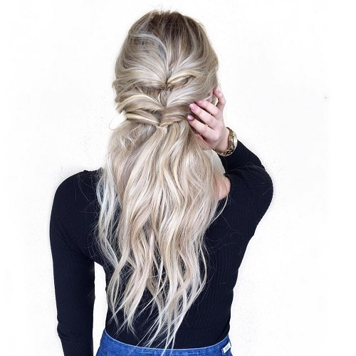 Double Half Up Topsy Ponytail