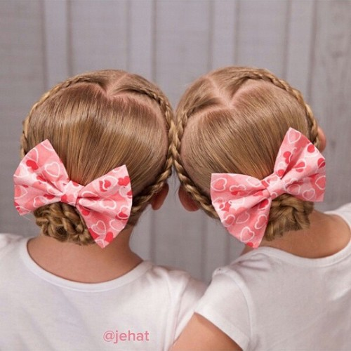 braided low bun girls' hairstyle