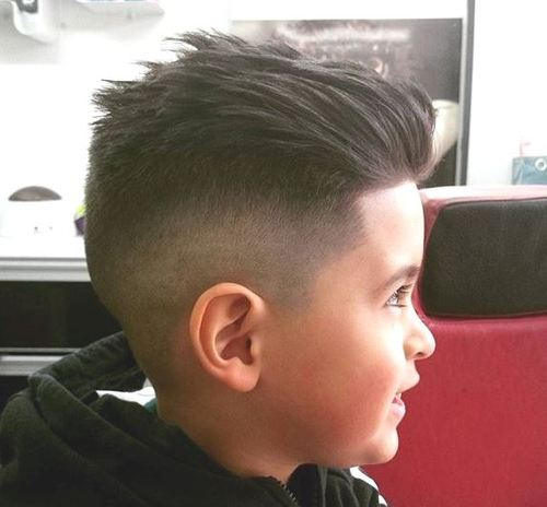 shaved sides haircut for little boys