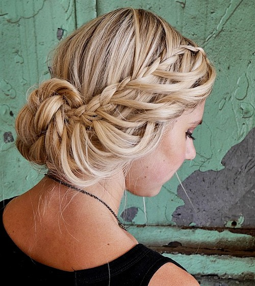 braided updo for blonde hair