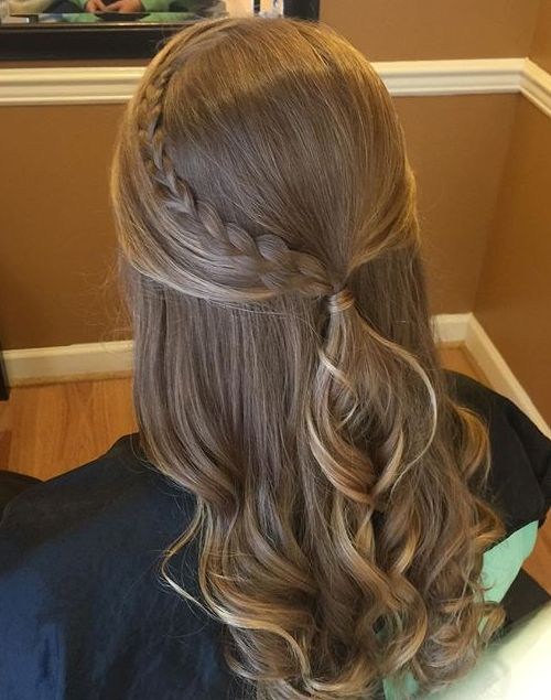 Half Ponytail With A Braid